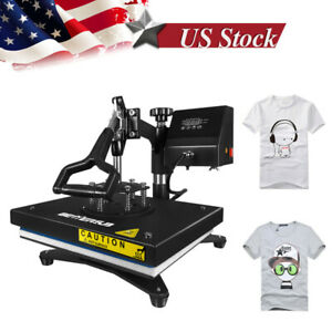 12 x9 Swing Away Heat Press Transfer Machine Sublimation Iron On Diy T shirt Us