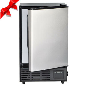 Smad Commercial Stainless Steel Ice Maker Undercounter Built in Ice Cube Machine