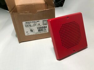 Wheelock Ch70 24 r Chime Red 24 Vdc