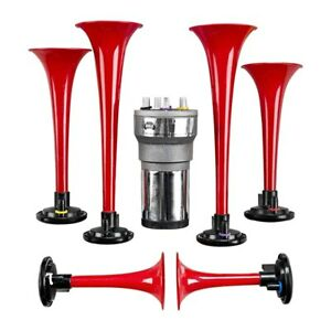 Wolo 440 6 Trumpet Red Godfather Musical Air Horn