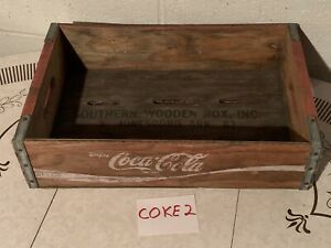 Vintage 1983 Coca-Cola Wooden Crate Red Jonesboro  Ark. 1983 COKE2