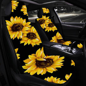 2x Sun Flower Front Row Car Seat Cover Seat Covers Protection Car Accessories