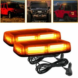 2pcs Car Trunk Led Emergency Warning Light Strobe Beacon Suv Dash Lamp Roof Top