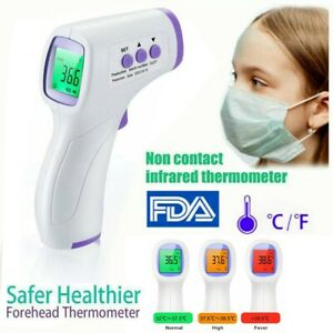 Non contact Digital Ir Infrared Forehead Thermometer Gun Adult baby Fahrenheit