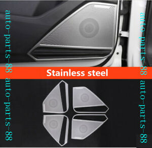 Stainless Car Door Audio Speaker Protect Cover Trim For Vw Tiguan 2018 2019 2020