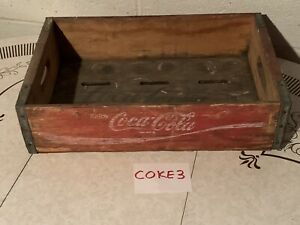 Vintage Coca-Cola Wooden Crate Red COKE3