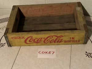 Vintage 1968 Coca-Cola Wooden Crate Yellow 1968 Chattanooga COKE7