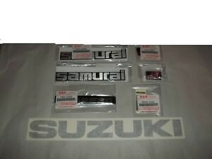 Oem Suzuki Samurai Complete Jx Or Jl Vehicle Exterior Body Emblem Set