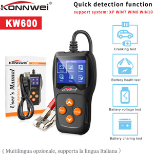 Konnwei Kw600 Car Battery Tester 12v Digital Auto Battery Analyzer 2000cca A1g3
