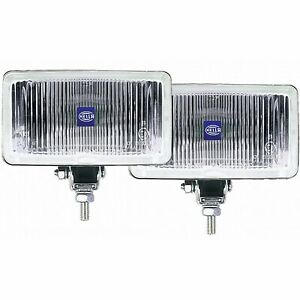 Hella 005860601 450 Fog Lamp Kit Rectangle Clear Lens Upright And Pendant Mounti