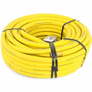 Goodyear Air Hose 12918 Yellow Rubber Air Hose 1 2 Solid Brass End Fittings 100