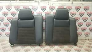 2011 2014 Mustang Gt Coupe Oem Leather Suede Rear Back Upper Seat Black