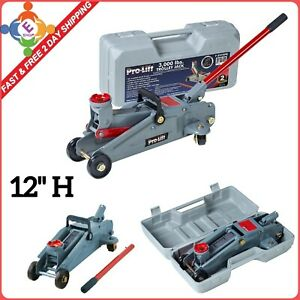 Floor Jack 3000 Lbs Hydraulic Heavy Duty Steel Handle Trolley Profile Lift