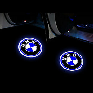 2pcs Car Door Led Light Bmw Logo Projector Emblem Ghost Shadow For Bmw