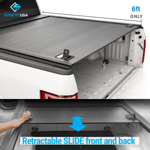 Waterproof Aluminum Retractable Tonneau Truck Bed Cover For 2010 2021 Tacoma 6ft