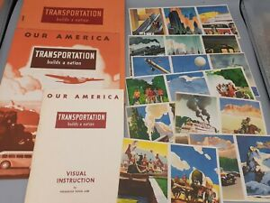 40's Coca Cola OUR AMERICA TRANSPORTATION Instruction & Student Books Stickers