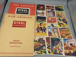 1940's Coca Cola OUR AMERICA STEEL Instruction & Student Books Stickers