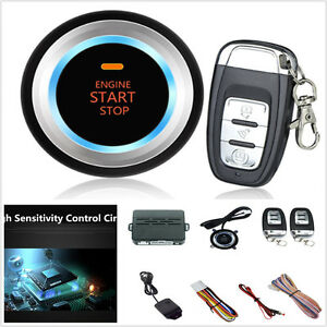 Car Vibration Alarm System Security Ignition Push Remote Button Engine Start
