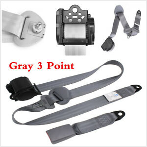 3 Point Car Seat Belt Bolt Automatic Safety Strap Buckle Universal Retractable