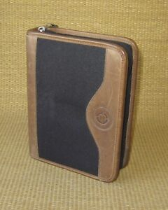 Compact Franklin Covey Greenline Brown Leather 1 25 Rings Zip Planner binder