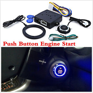 Keyless Entry System Car Engine Push Start Button Lock Ignition Immobilizer New