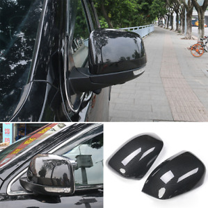 Carbon Fiber Rear Side View Mirror Cover Trim For Jeep Grand Cherokee 2011 2020