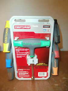 New Craftsman 7 Piece Metric T handle Nut Driver Set Usa Made 34547