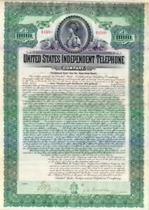 United States Independent Telephone Company NJ 1905Stock Certificate