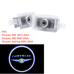 2x Led Car Door Courtesy Laser Ghost Shadow Projector Light Lamp Fit Chrysler