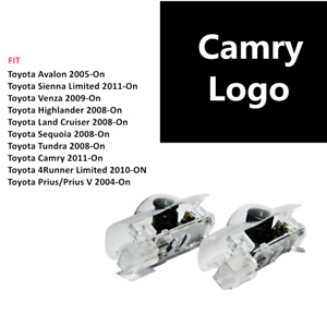 2pcs Led Car Door Courtesy Laser Ghost Shadow Projector Light Lamp Fit Camry