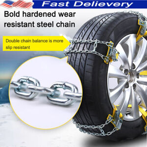 Universal Anti Skid Tire Snow Mud Chains Car Suv Traction Emergency Driving F2e9
