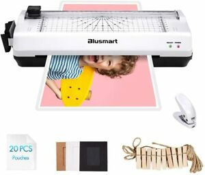 Blusmart A4 Laminator Trimmer Set With Hot Cold Roller 20 Laminating Pouches