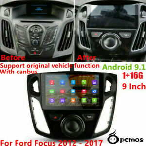 Pcmos For 12 17 Ford Focus 9 Android 9 1 Stereo Head Unit Radio Gps Wifi 1 16g