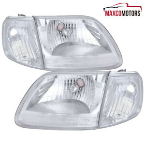 For 97 03 Ford F150 Expedition Headlights Corner Signal Lights 98 99 00 01