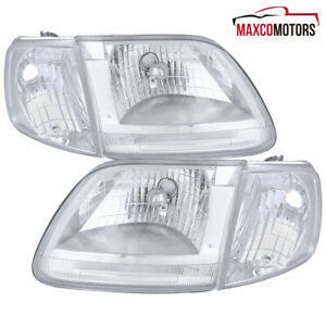 For 97 03 Ford F150 Expedition Led Drl Headlights W Corner Signal Lamps 99 00