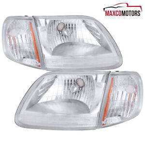 For 97 03 Ford F150 Expedition Headlights W corner Signal Lights 98 99 00 01