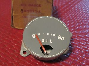 Nos 1949 1951 Ford Oil Pressure Gauge With Red Indicator See Description