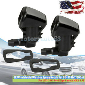 2pc For Ford Wiper Sprayer Front Windshield Washer Nozzle Focus Edge Lincoln Mkx
