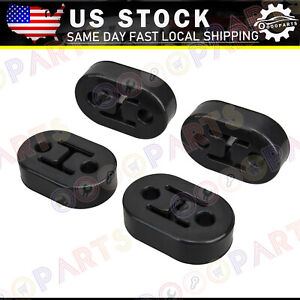 4 X Universal Car Vehicles Muffler Exhaust Pipe Mount Bracket Hangers Black 11 5