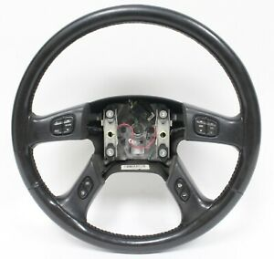 2003 2007 Chevrolet Silverado Leather Steering Wheel W Controls Used Gm 10364488
