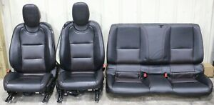 2010 2015 Camaro Ss Black Leather Power Seat Set Front Rear Hot Rod Lsx Swap