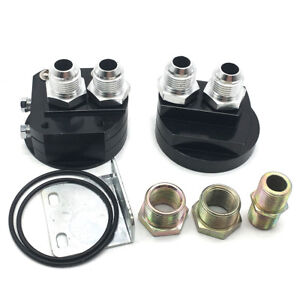Universal Car Oil Filter Relocation Male Sandwich Fitting Adapter Kit M20x1 5 Bk
