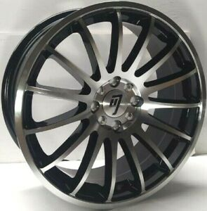 Set 4 17 Racing Style Black Machined Face Wheels Rims Free Fast Shipping