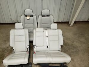 2018 Jeep Grand Cherokee Summit Front And Rear Gray Leather Seats Oem