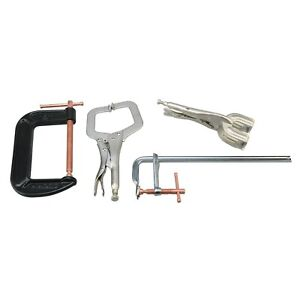 4pc Welder s Welding Clamp Set 12 F Bar Clamp Locking C clamp Pliers Locking