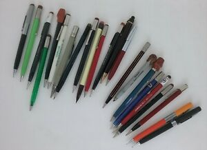 Vintage Mixed Lot Of 23 Twist Mechanical Pencils Advertising On Some As Is