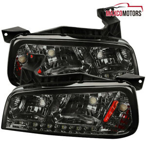 Smoke For 2006 2010 Dodge Charger 1pc Style Headlights W Signal Lamps Led Drl