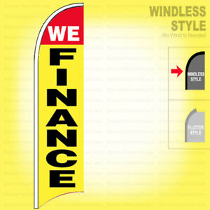 We Finance Windless Swooper Flag 2 5x11 5 Ft Feather Banner Sign Yb