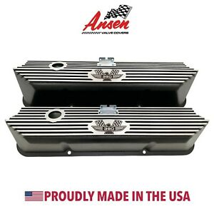 Ford Fe 390 American Eagle Valve Covers Black Die cast Aluminum Ansen Usa