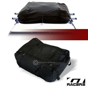 Black Waterproof Roof Top Cargo Carrier Bag Luggage Storage W Straps Buckles G19
